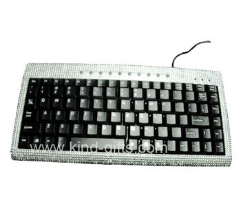 Mini rhinestone bluetooth keyboard