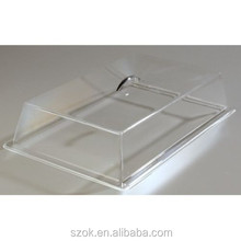 Cheap promotional acrylic serving tray with covers
