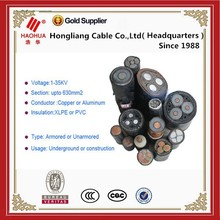 1--35KV Various Voltage Kinds of XLPE Cable 70mm Copper Cable Size and Price Customized Your Request