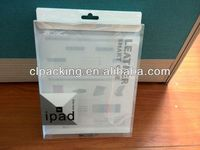 Custom small clear plastic packaging box for ipad case