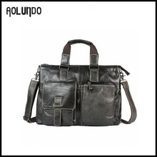 Popular men cheap small leather briefcases bags for lawyers