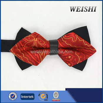 cheap fancy microfiber flower tie bow tie