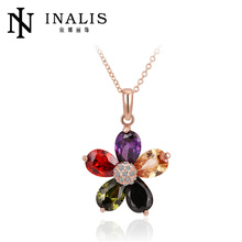 Wholesale shourouk necklace with colorful zircon N429