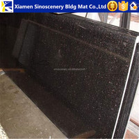 2 cm 3cm thick Black galaxy granite base for kitchen table tops
