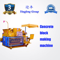 QMY6-25 Automatic Mobile Egg Laying Hollow Cement Fly Ash Concrete Brick Block Maker Making Machinery For Sale