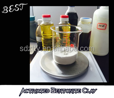 Activated Bleaching Earth Bentonite Clay for used engine oil decolorizing