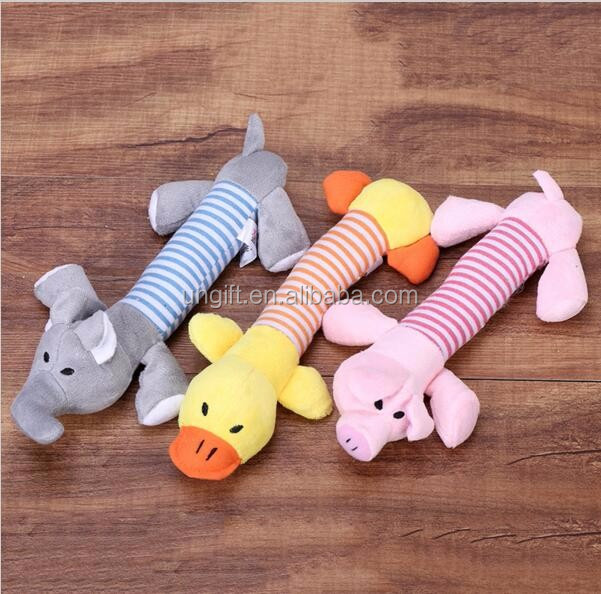 Pet Toys Lovely Pet Puppy Dog Soft Stuffed Toys Sound Squeaky Dogs Funny Bear Toys