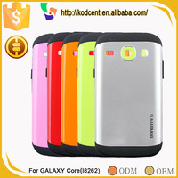 Fancy mobile phone hybrid armor silicon back cover case for samsung galaxy core i8260 i8262