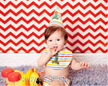 Colorful Baby first birthday outfit full of Childlike innocence/ Toddle boy's birthday party wear smiling 3set hat tie underwear