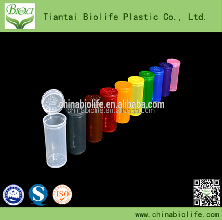 plastic pill bottles/Storage Pop Top Squeeze containers open Medical Cannabis vials/small plastic squeeze bottles