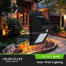 2015 new products waterproof outdoor led solar garden lighting