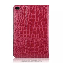 Premium flip cover real leather crocodile pattern for samsung tablet case for ipad 9.7