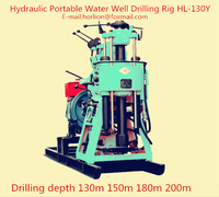 Water well drilling rig used for 50m - 100m - 200m