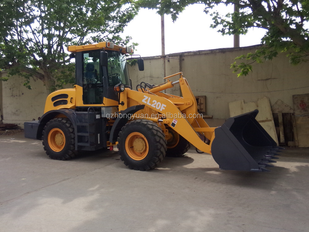 2.0Ton mini wheel loader/ZL20 small loader with joystick/pallet fork wheel loader ZL20/snow blade mini loader ZL20F for sale