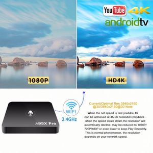 A95X PRO better than M8S Pro W Android 7.1 Amlogic S905W 2Gb/16Gb Wifi 4K Smart Tv Box Mag 254 Stalker Youtube 4K Netflix 1080P