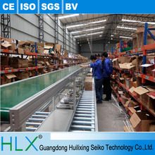 Hlx Make Automated Cell Phone Clean Belt Assembly Line With Working Table On Both Sides