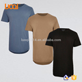 China Clothing Factory Custom Short Sleeve Curved Hem Ling Line Men T Shirt distressed t shirts