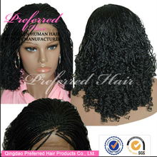 Factory price 100% human hair fashionable braided wigs