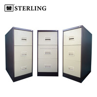 Filing Cabinet with Recess Handle - 3 Drawer