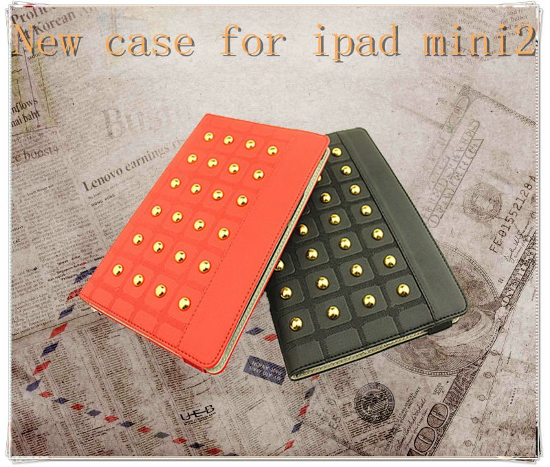 New!!!Stand leather case cover for iPad Mini tablet pc 7.85 inch made in china