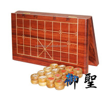 Wooden Chinese Chess Set with Green Palisander Wood Pieces and Rosewood Board