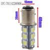 Top Quality 1156 BA15S 5050 SMD 18 LED Warm White Car Auto RV Tail Brake Turn Parking Lights Lamp Bulb DC12V