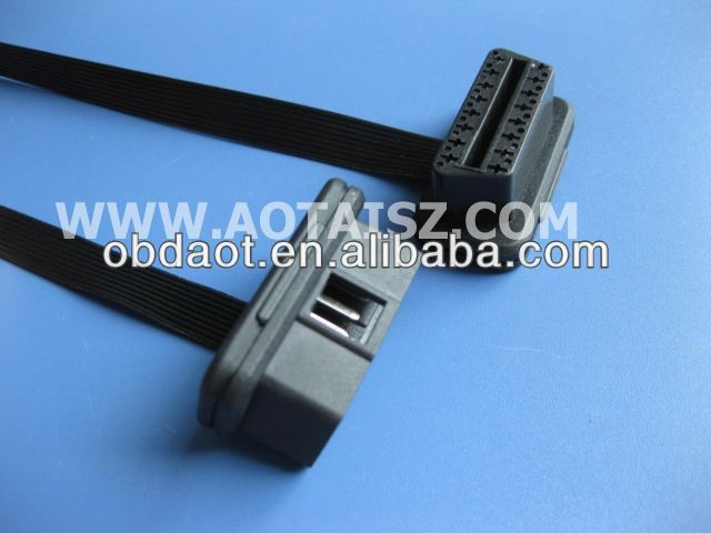 obd2 Cable, Male J1962 (12pin) to Open End, 6ft, 9pins Wired ribbon flat cable