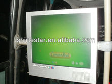 17 inch wifi network Bus LCD advertising TV screen with bracket