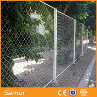 High quality hot sale pvc coated galvanized chain link fence netting(ISO9001;factory price)