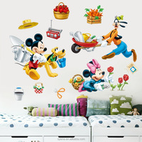 Mickey Mouse wall stickers kids baby nursery room Minnie mickey wall decals cartoon wall stickers for baby rooms