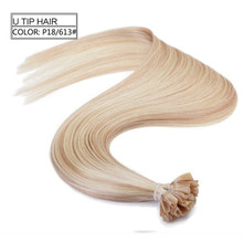piano color p 613 18,10A Wholesale factory price unprocessed remy virgin European U tip nail tip extension human hair