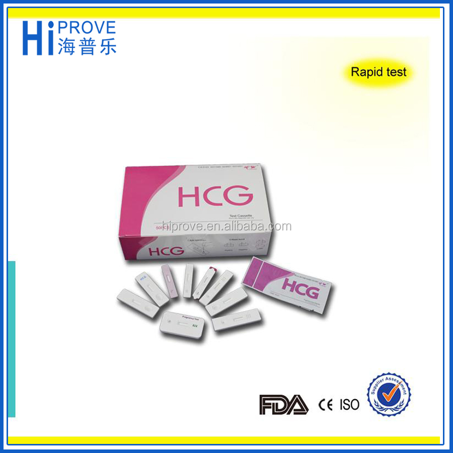 CE Approved Quick Accurate hcg pregnancy test cassette