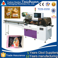 TCZB-450W Full automatic frozen foods/angus beef steak horizontal flow packaging machine OEM price