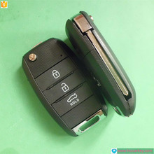 Top quality car key in key for Hyundai 3 Button Modified Flip Key shell