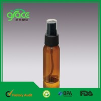 china wholesaler 30ml black spray pet amber plastic bottle