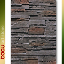 Dark grey outdoor wall cladding stone veneer high quality brick panel with stone finish rustic cement based handmade stone tile