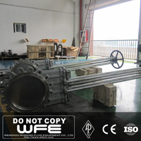 Knife With Pneumatic Actuator Carbon Steel High Gate Valve