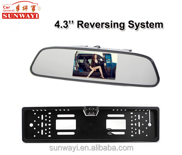 Night vision european license plate frame camera for backup car number rear view camera