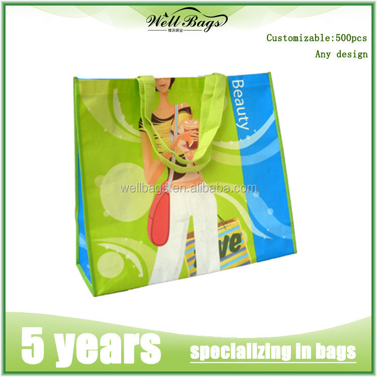 factory custom PP laminated nonwoven reusable shopping gift bag