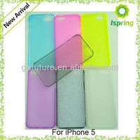 Factory supply, transparent thin cheap Mobile Phone Case for Iphone 5