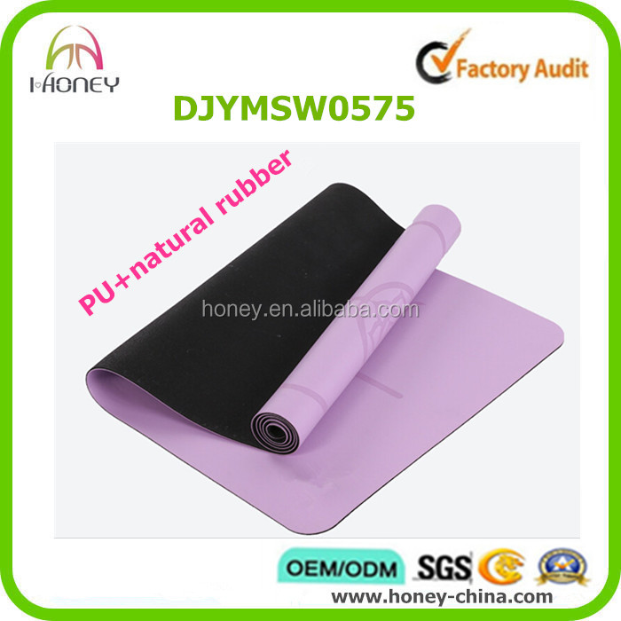 4mm Extra Thick PU yoga mat wih Antimicrobial Closed Cell Technology