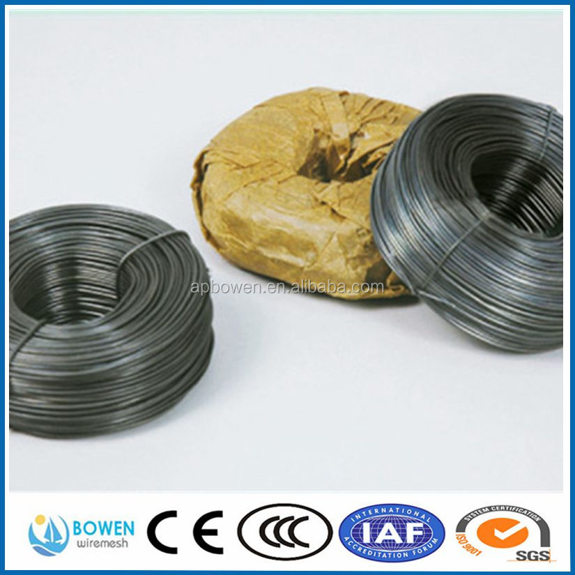 China Supplier Iron Binding Wire & Black Annealed Wire/black annealed tie wire/18 gauge black annealed wire