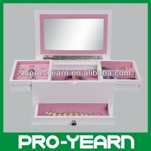 Brand-New Wooden Cosmetic Case with Mirror and Drawer with Ball Handle Knob