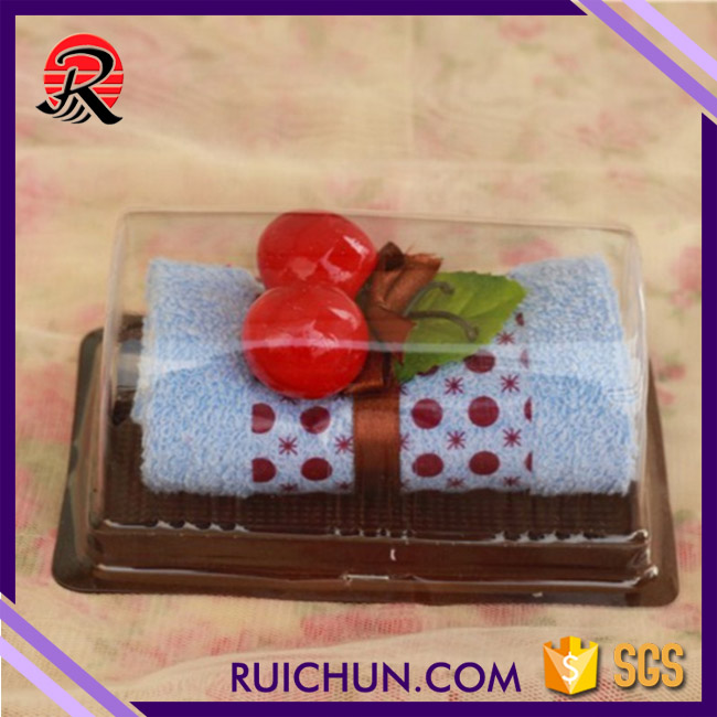 Import cake 100% cotton towel gifts swiss roll towels