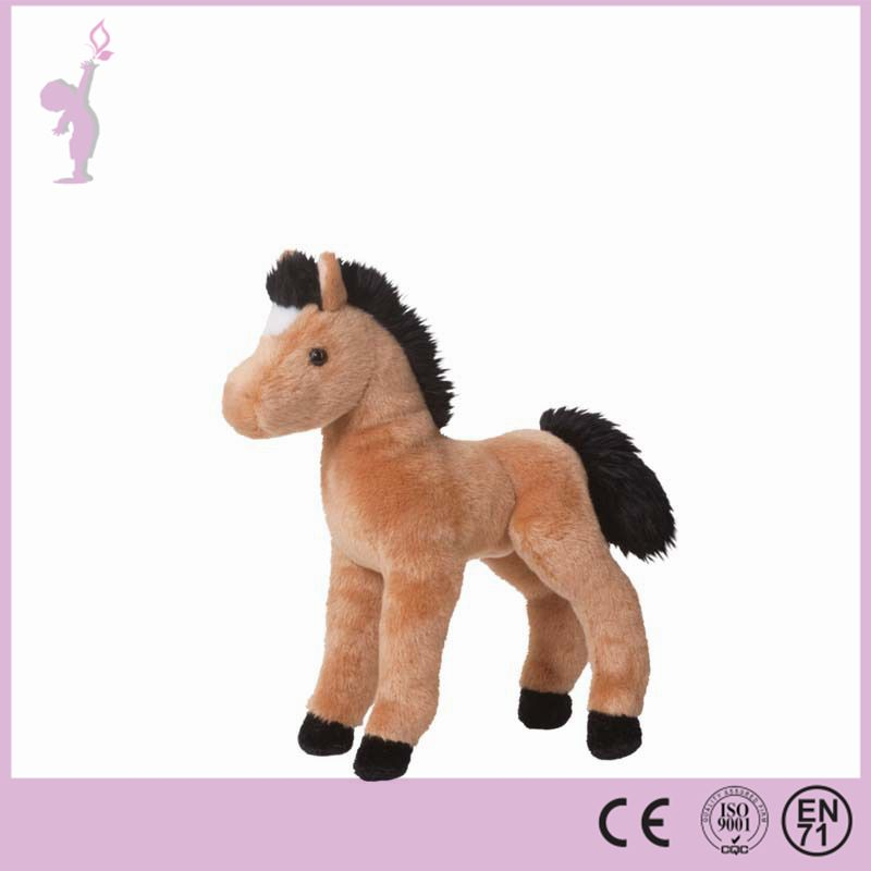 Alibaba Custom lovely horse toy plush animal toy stuffed horse with small size