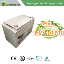 Gama Solar 2016 year 12v 100ah ISO CE SGS nimh battery for off grid solar system