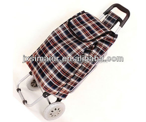 Grid shopping trolley bag grocery shopping cart
