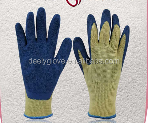 2016 Workplace safety supplier latex coated electric rubber hand gloves