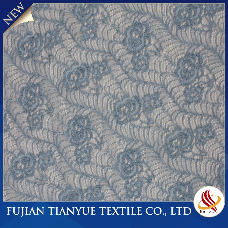 High Quality Soft Blue Heavy Lace Fabrics Hot Sale