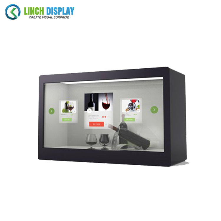 Factory Price 43 inch HDMI Ports USB Interface Transparent LCD Showcase for Product Advertising